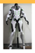 Cosrea Games Overwatch Genji Gunmetal Grey With LED Cosplay Costume