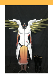 Overwatch Mercy Classic Skin LED Cosplay Costume - Cosrea Cosplay