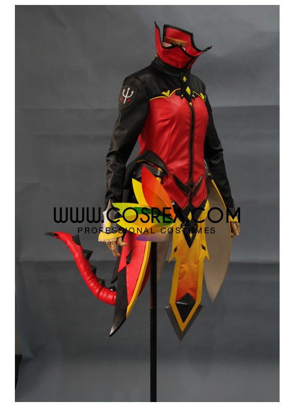 Overwatch Mercy Devil Skin Custom Cosplay Costume - Cosrea Cosplay