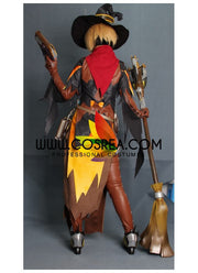 Overwatch Mercy Halloween Skin Custom Cosplay Costume - Cosrea Cosplay