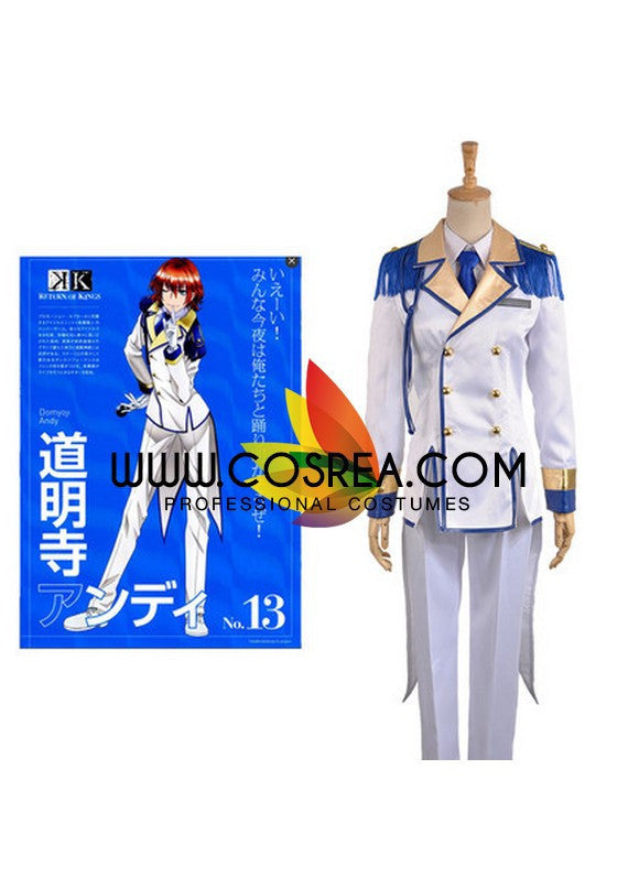 K Scepter 4 Andy Domyoji Cosplay Costume - Cosrea Cosplay