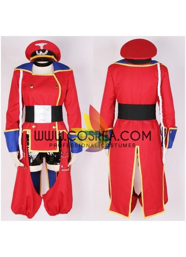 Cosrea K-O Sheryl Macross Frontier Red Uniform Cosplay Costume