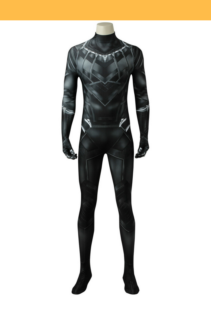 Black Panther Civil War Digital Printed Cosplay Costume