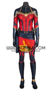 Captain Marvel Infinity War PU Leather Cosplay Costume