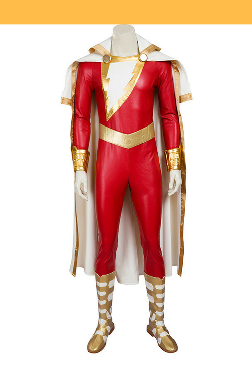 Cosrea Marvel Universe Captain Marvel Shazam Cosplay Costume