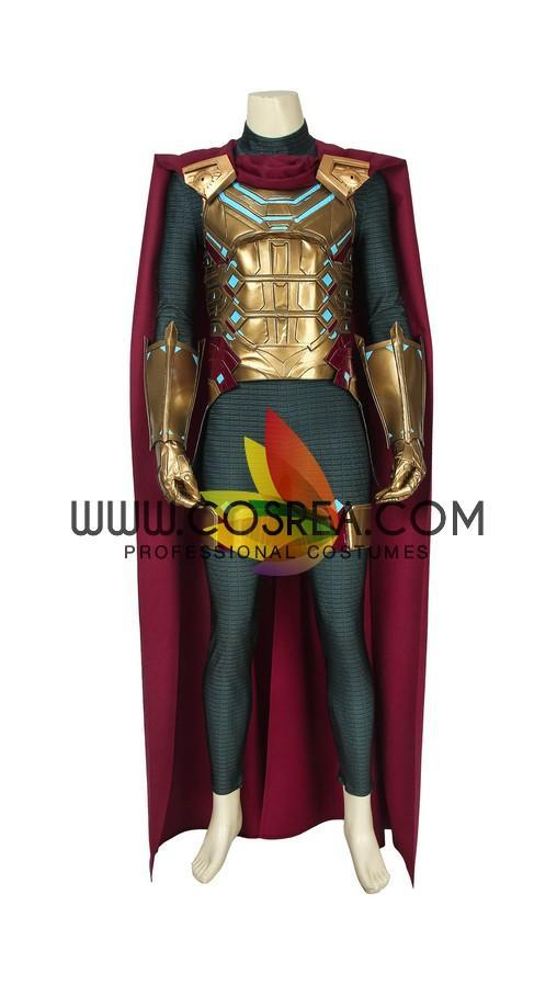 Mysterio Metallic Gold Spiderman Far From Home PU Leather Cosplay Costume