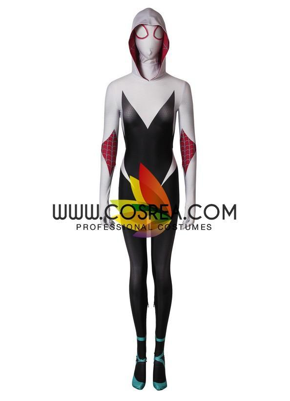 Spider Gwen Spider Verse Digital Printed Cosplay Costume - Cosrea Cosplay