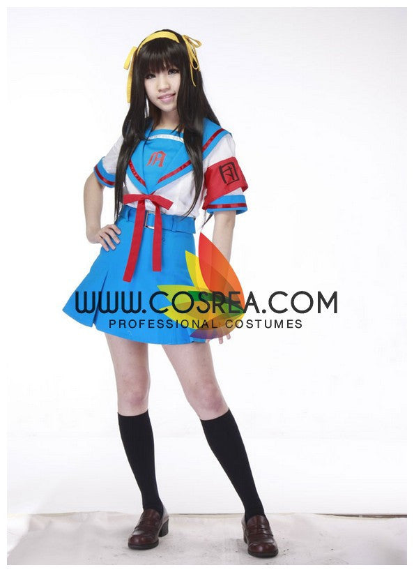 Cosrea P-T Haruhi Suzumiya North High Summer Cosplay Costume