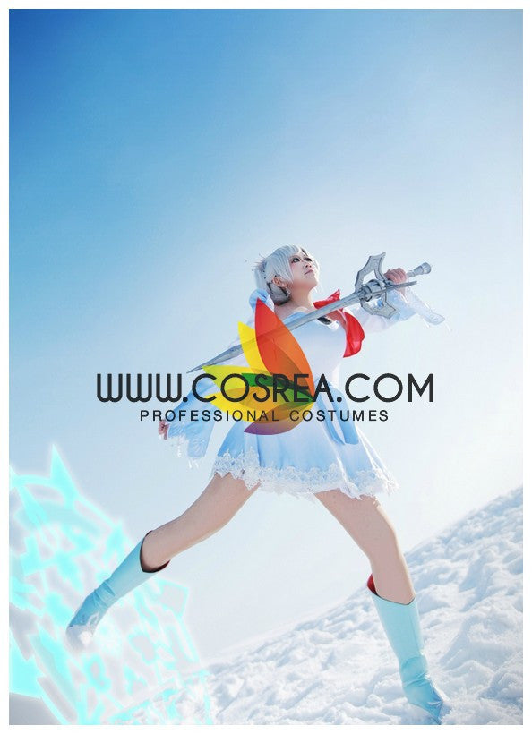 Cosrea P-T RWBY White Weiss Season 1 Cosplay Costume