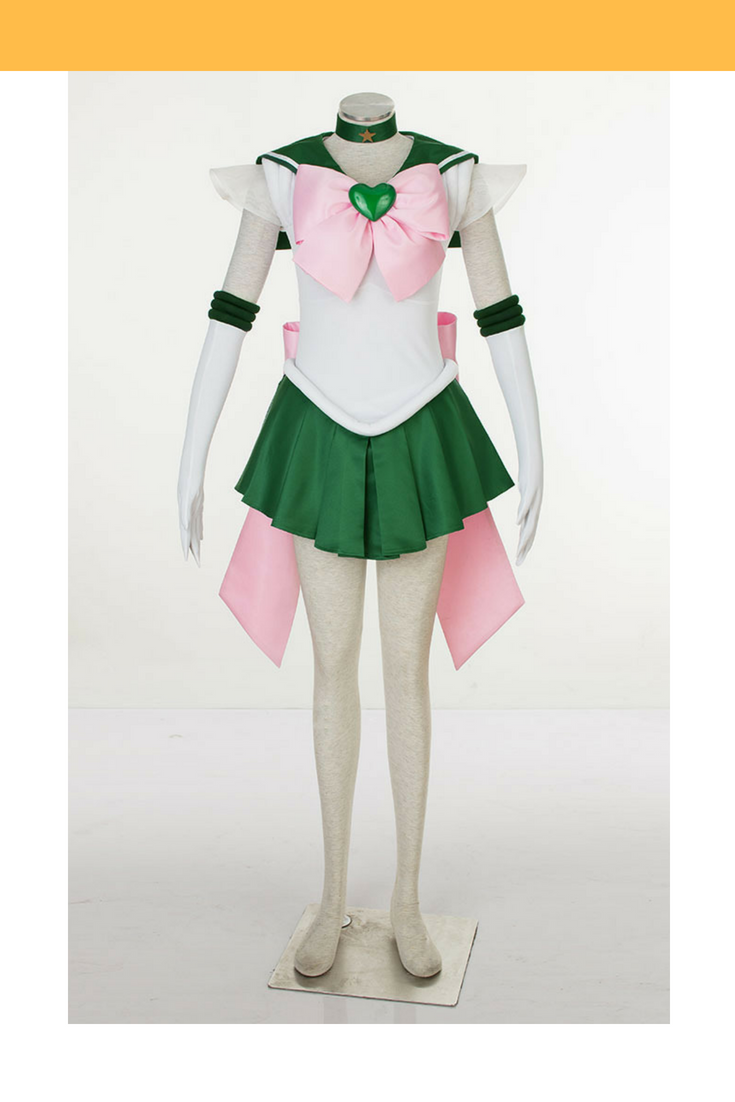 Sailormoon Super S Sailor Jupiter Makoto Kino Cosplay Costume