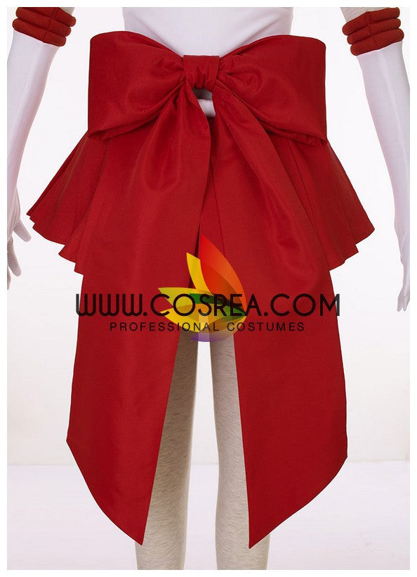 Cosrea P-T Sailormoon Super S Sailor Mars Rei Hino Cosplay Costume