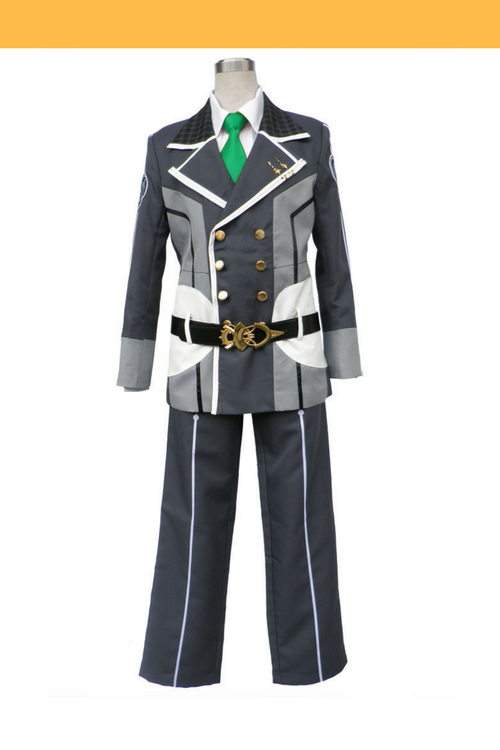 Cosrea P-T Starry Sky Seigetsu Academy Male Uniform With Green Tie Cosplay Costume