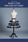 Black 3 Tier Bird Cage Petticoat - Cosrea Cosplay