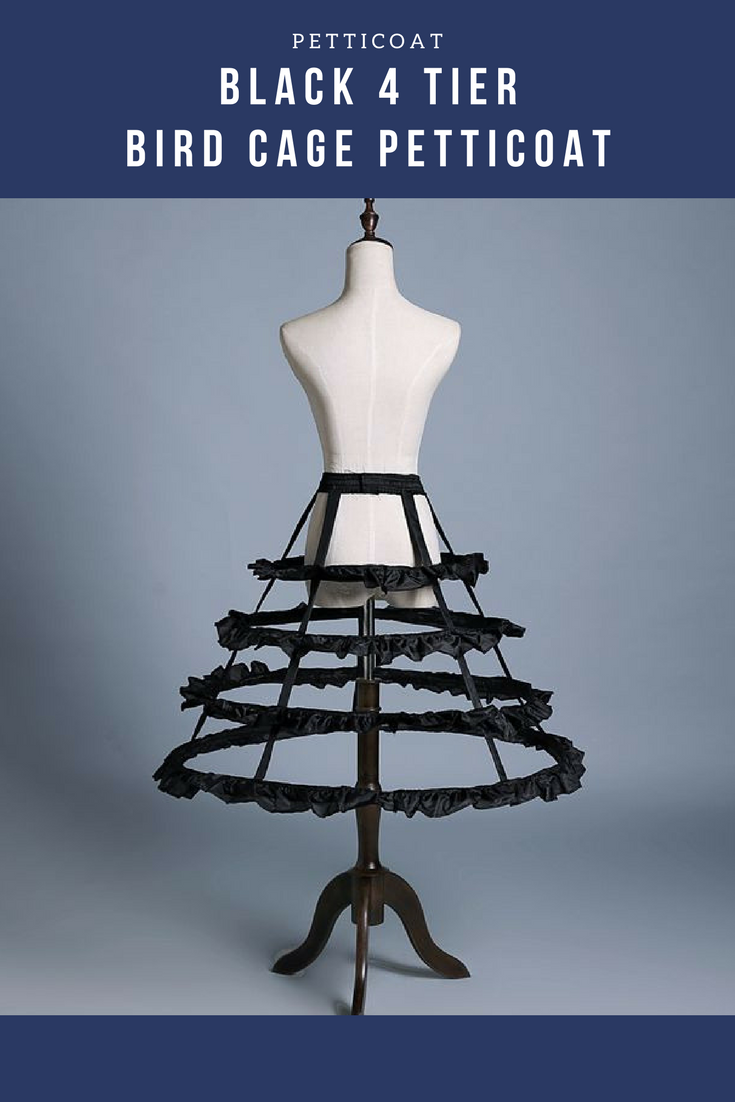Black 4 Tier Bird Cage Petticoat - Cosrea Cosplay