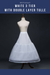 Cosrea Petticoat & Skirt Hoop White 3 Tier With Double Layer Tulle Petticoat