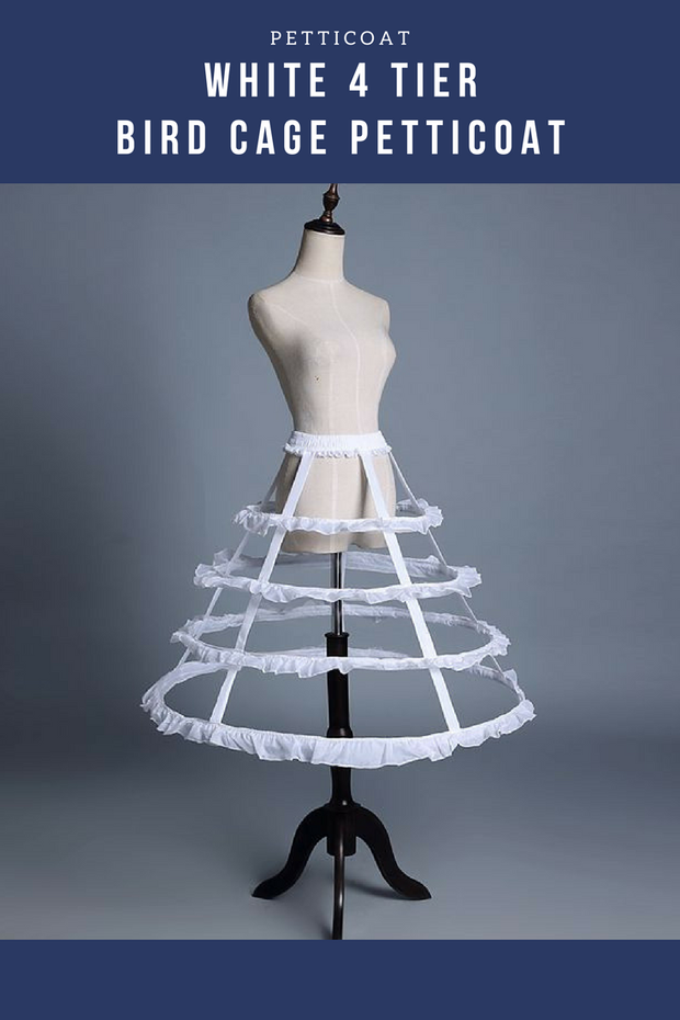 White 4 Tier Bird Cage Petticoat - Cosrea Cosplay