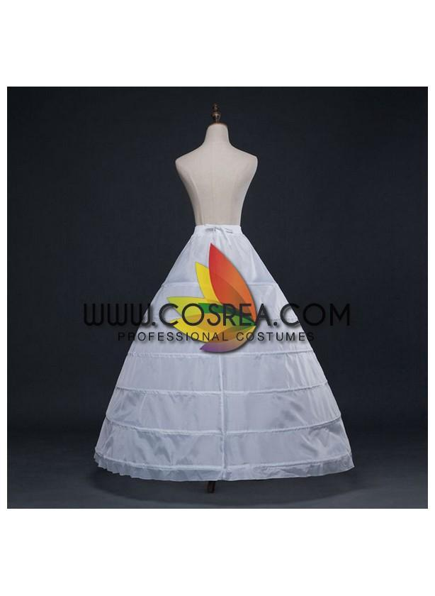 White 6 Tier Extra Wide Petticoat - Cosrea Cosplay