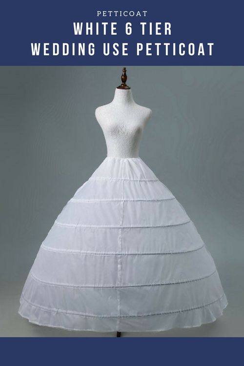Cosrea Petticoat & Skirt Hoop White 6 Tier Wedding Use Petticoat
