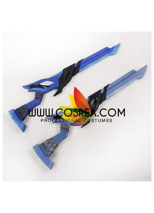 Elsword Sakra Demonio Double Guns Cosplay Prop - Cosrea Cosplay