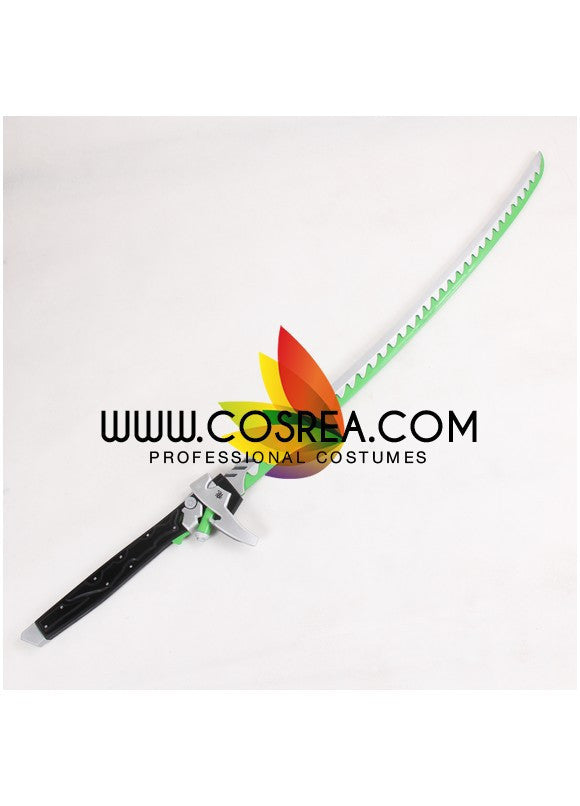 Cosrea prop Overwatch Genji Upgraded Katana Sword Cosplay Prop