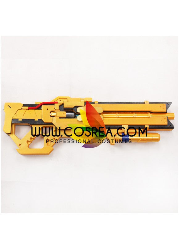 Overwatch Soldier 76 Heavy Pulse Rifle Gold Cosplay Prop - Cosrea Cosplay