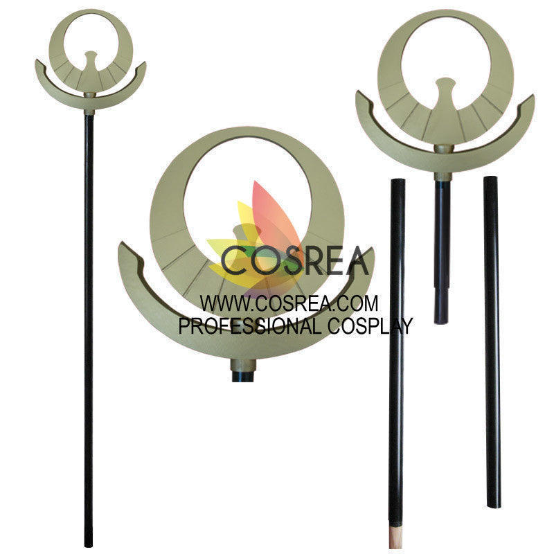 Cosrea prop Saint Seiya Athena Light Gold Staff Cosplay Prop