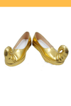 Cosrea shoes Disney Aladdin Jasmine Gold Cosplay Shoes