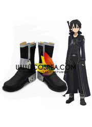 Cosrea shoes Sword Art Online Kirito Black Cosplay Shoes