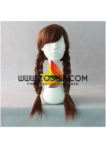 Frozen Anna Winter Braided With Highlight Cosplay Wig