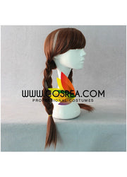 Frozen Anna Dark Brown With Highlight Braided Cosplay Wig - Cosrea Cosplay