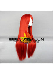 Cosrea wigs Fairy Tail Erza Scarlet Bright Red Cosplay Wig