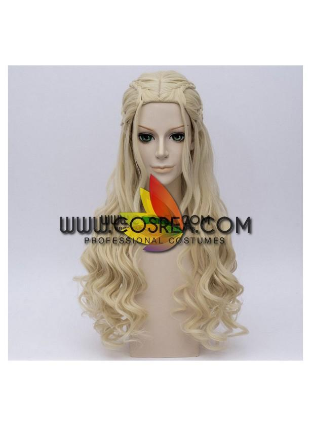 Game Of Thrones Daenerys Targaryen Braided Cosplay Wig - Cosrea Cosplay