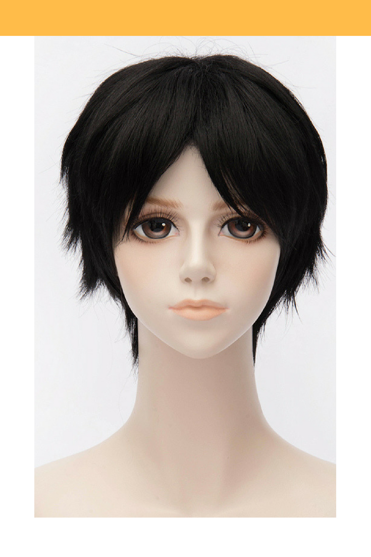 Your Lie In April Kosei Arima Pure Black Cosplay Wig