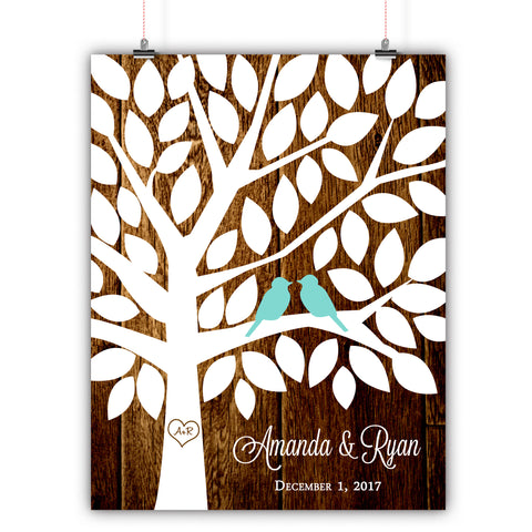 Wedding Tree Guest Book Alternative - 75 Signatures