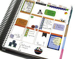 Monthly Planner Stickers Pencil School College Life Stickers Planner Labels Compatible with Erin Condren Vertical Life Planner planner sticker - INKtropolis