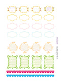 Monthly Planner Stickers Specialty Fancy Frame 1/2 and Full Boxes Plus Stickers Planner Labels Compatible with Erin Condren Vertical Life Planner planner sticker - INKtropolis