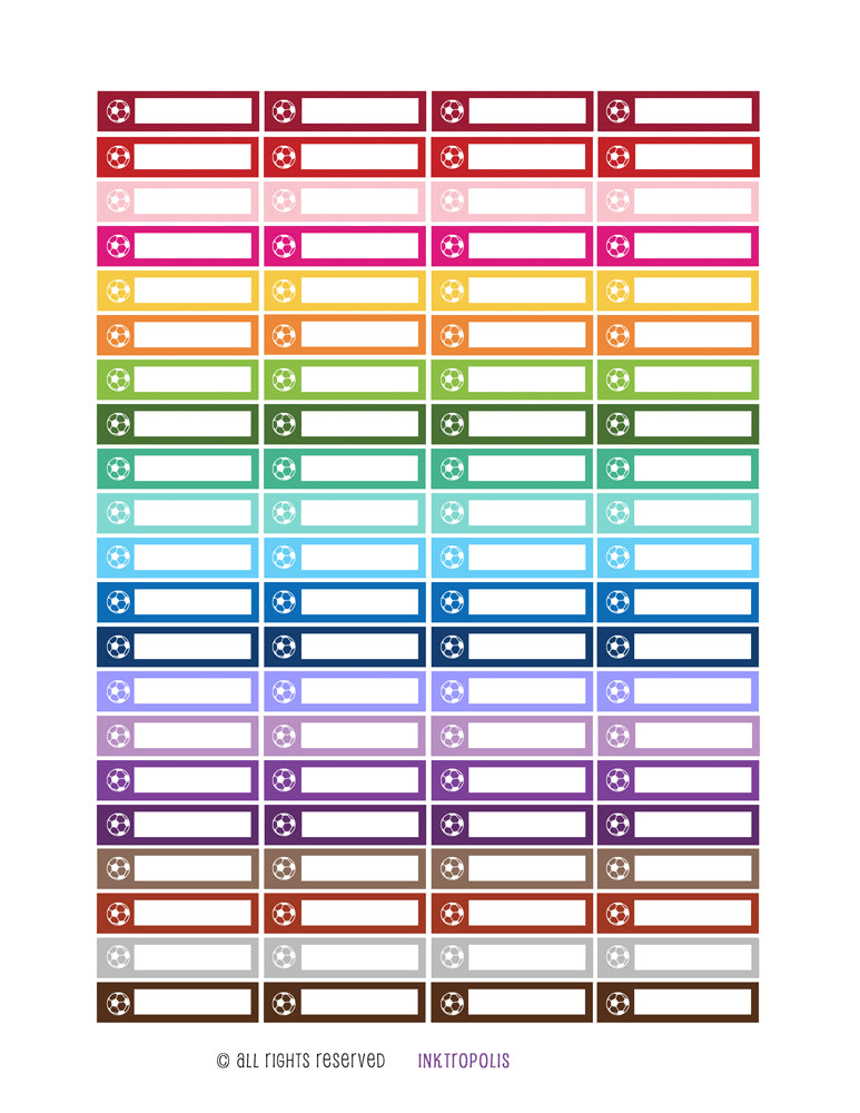 Monthly Planner Stickers Rainbow Soccer Sports Stickers Planner Labels Compatible Erin Condren Vertical Life Planner Be the first to review this item planner sticker - INKtropolis