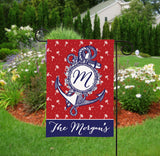 Personalized Garden Flag - Nautical Anchor