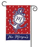 personalized nautical anchor summer flag
