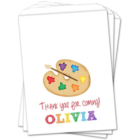 Art Party Personalized Birthday Favor Bags