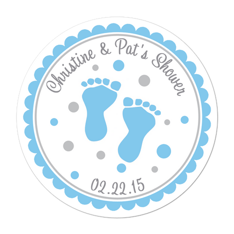 Baby Feet Personalized Sticker
