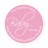 Baby Love Personalized Sticker Baby Shower Stickers - INKtropolis