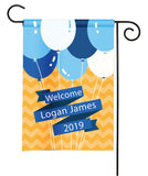 Personalized Baby Shower Party Flag - Baby Announcement - Boy Baby Balloons
