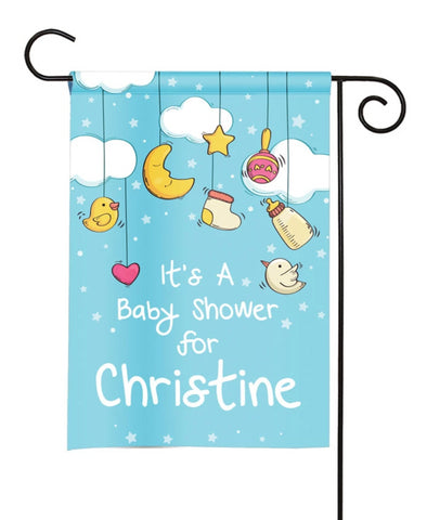 Personalized Baby Shower Party Flag - Baby Announcement - Baby Toys