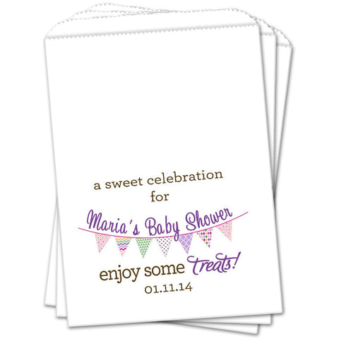 Celebration Banner Baby Shower Favor Bags