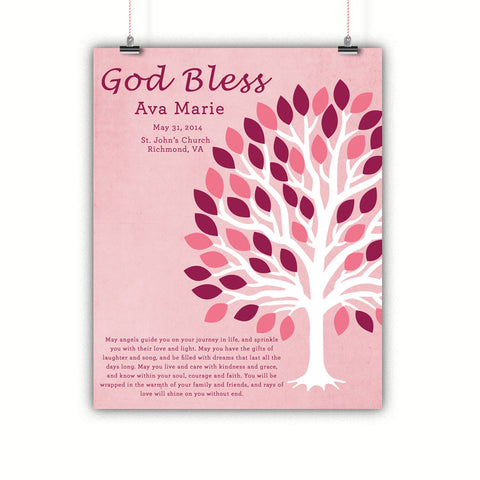 Girls Baptism Gift, Christening, Communion Wall Art
