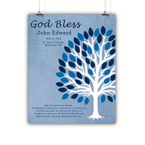 Boys Baptism Gift, Christening, Communion Wall Art