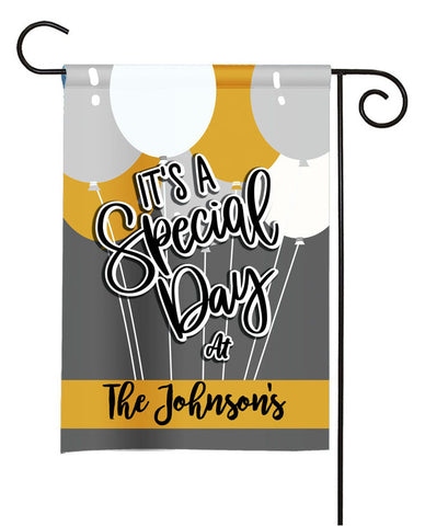 Personalized Special Day Garden Flag - Party Flag - Birthday Sign