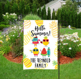 Personalized Summer Garden Flag - Summer Food Pals