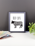 Lamb Meat Cuts Kitchen Artwork, Poster, Print, Framed or Canvas kitchen art - INKtropolis
